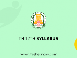 TN 12th Syllabus