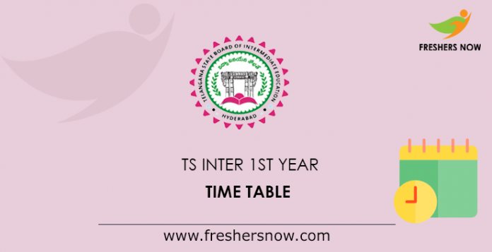 TS Inter 1st Year Time Table