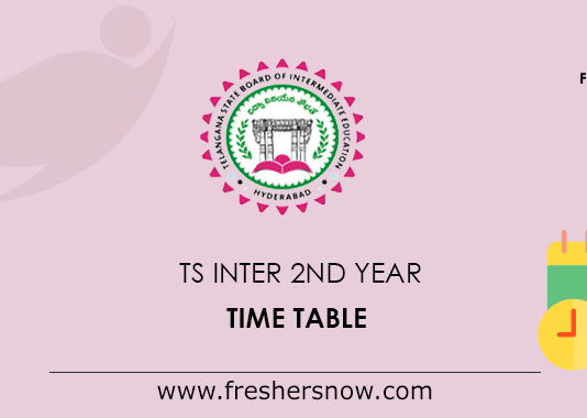 TS Inter 2nd Time Table