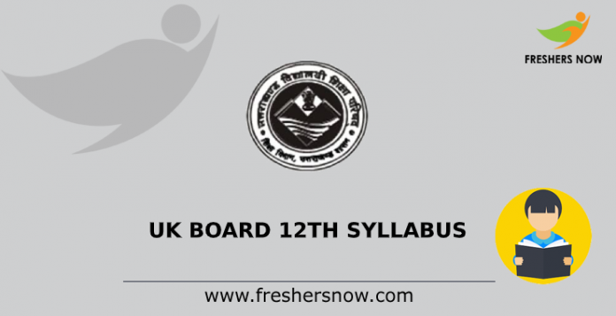 UK Board 12th Syllabus