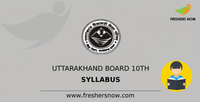 Uttarakhand Board 10th Syllabus