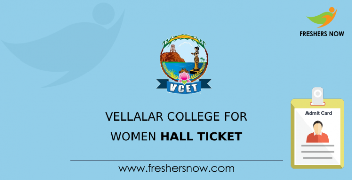 Vellalar College for Women Hall Ticket