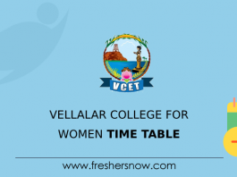 Vellalar College for Women Time Table