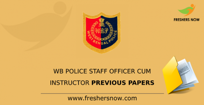 WB Police Staff Officer Cum Instructor Previous Papers