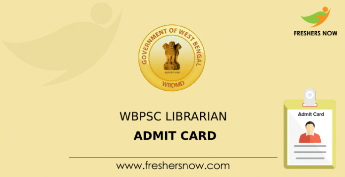WBPSC Librarian Admission Card