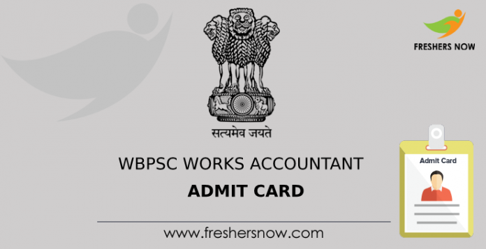 WBPSC Works Accountant Admit Card