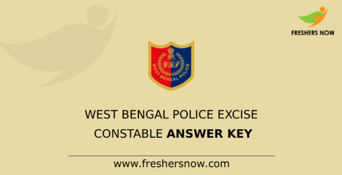 West Bengal Police Excise Constable Answer Key