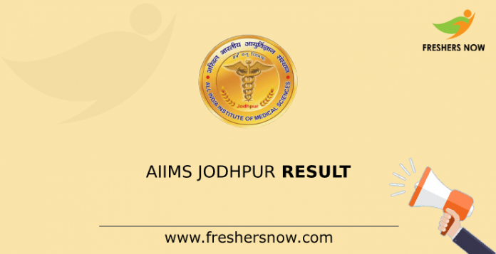 AIIMS Jodhpur Result
