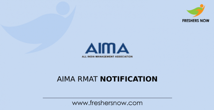 AIMA RMAT 2020 Notification