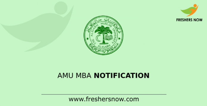 AMU MBA Notification