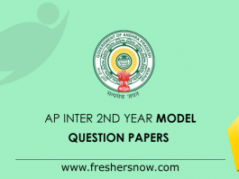 AP Inter 2nd Year Model Question Papers