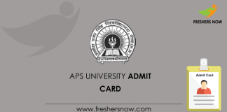 APS University Admit Card