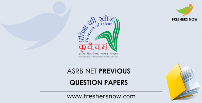 ASRB NET Previous Question Papers
