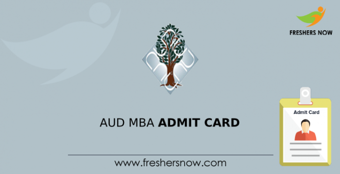 AUD MBA Admit Card