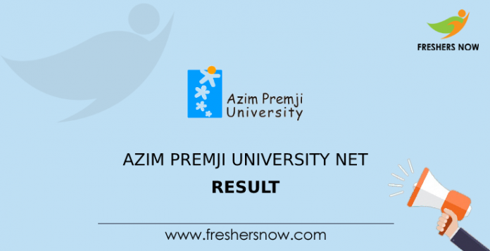 Azim Premji University NET Result