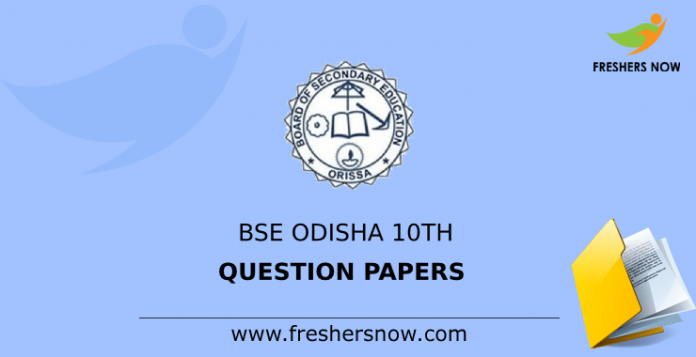 BSE Odisha 10th Previous Question Papers