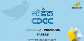 CDAC C-CAT Previous Question Papers