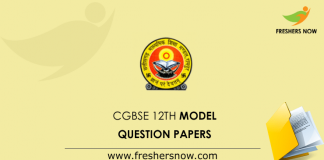 CGBSE 12th Previous Question Papers