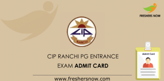 CIP-Ranchi-PG-Entrance-Exam-Admit-Card