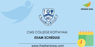CMS College Kottayam Exam Schedule