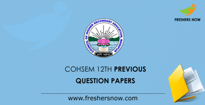 COHSEM 12th Question Papers