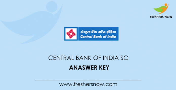 Central Bank of India SO Answer Key