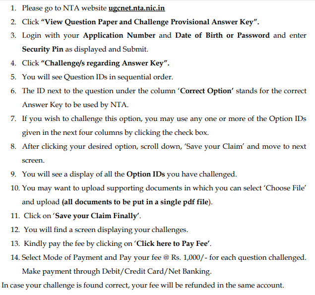 Challenge UGC NET Answer Key