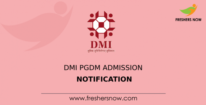 DMI PGDM Admission Notification