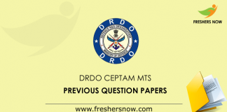 DRDO Ceptam MTS Previous Question Papers