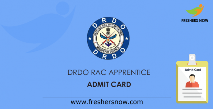 DRDO-RAC-Apprentice-Admit-Card
