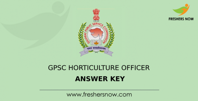 GPSC Horticulture Officer Answer Key