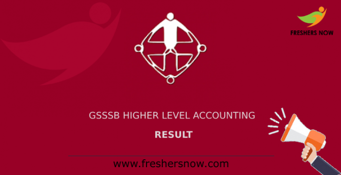 GSSSB Higher Level Accounting Result
