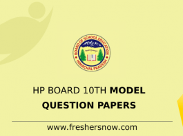 HP Board 10th Model Question Papers