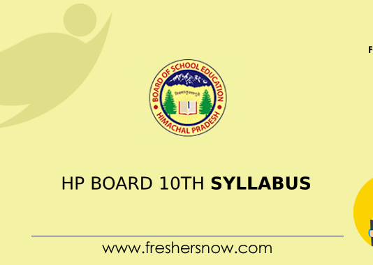 HP Board 10th Syllabus
