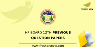 HP Board 12th Class Previous Question Papers