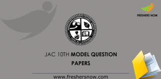 JAC 10th Model Question Papers