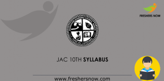 JAC 10th Syllabus