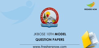 JKBOSE 10th Class Previous Question Papers