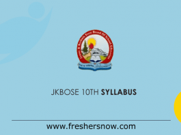 JKBOSE 10th Class Syllabus