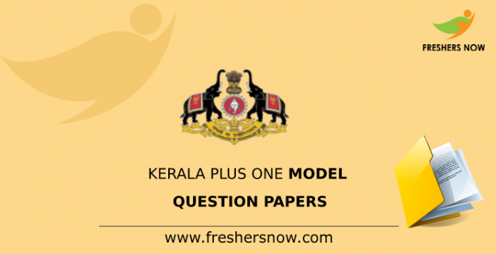 Kerala Plus One Model Question Papers