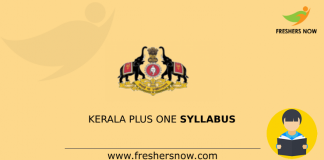 Kerala Plus One Syllabus