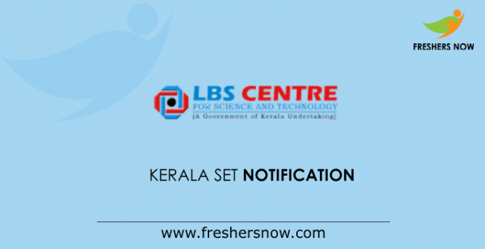 Kerala SET Notification