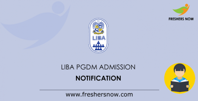 LIBA PGDM Admission Notification