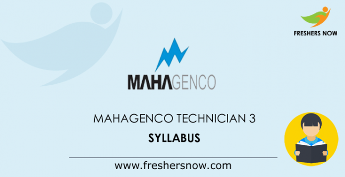 MAHAGENCO Technician 3 Syllabus