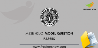 MBSE HSLC Model Question Papers
