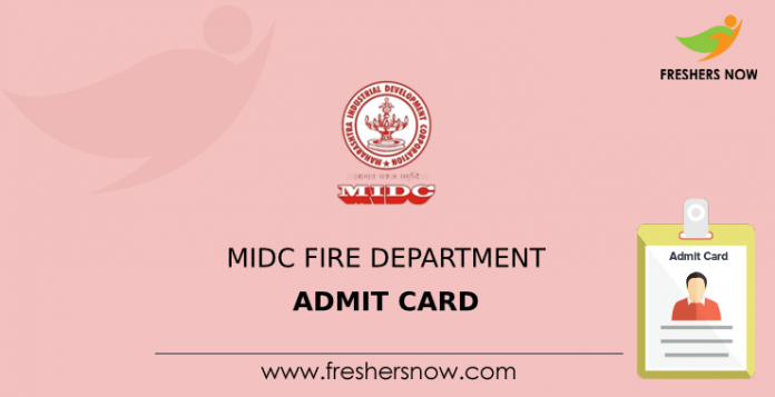MIDC Fire Department Admit Card