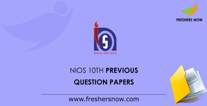 NIOS-10th-Previous-Question-Papers