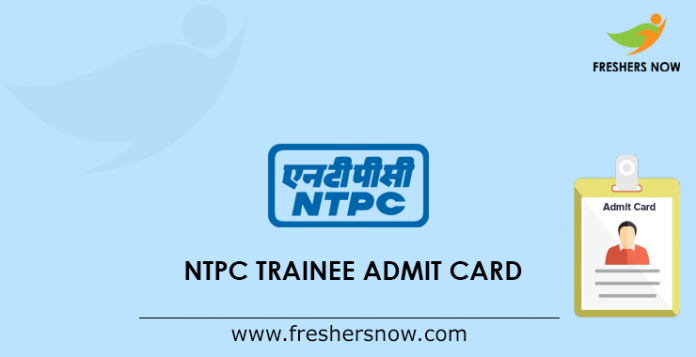 NTPC Trainee Admission Card