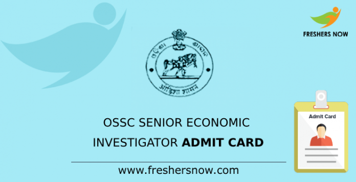 OSSC Senior Economic Investigator Admit Card