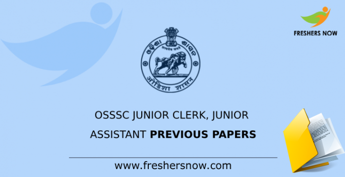 OSSSC Junior Clerk, Junior Assistant Previous Papers